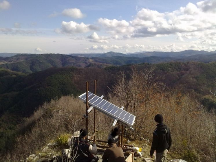 Off-grid PV system for communication system in Rodopa mountain, 1370m above MSL